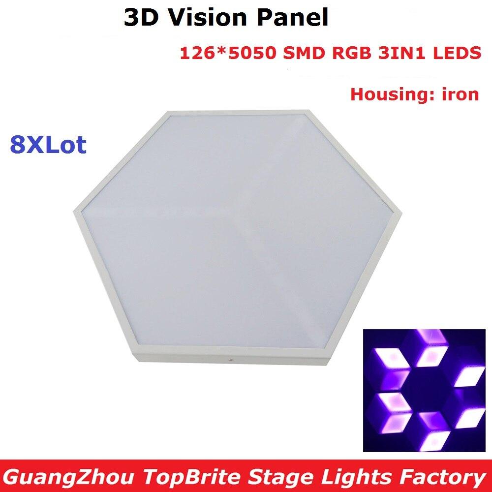 8xlot заводская цена 126 шт. SMD 5050 RGB 3 в 1 светодиоды сценический эффект высокое качество 35 Вт 3D панели видения для диджея диско ночного клуба