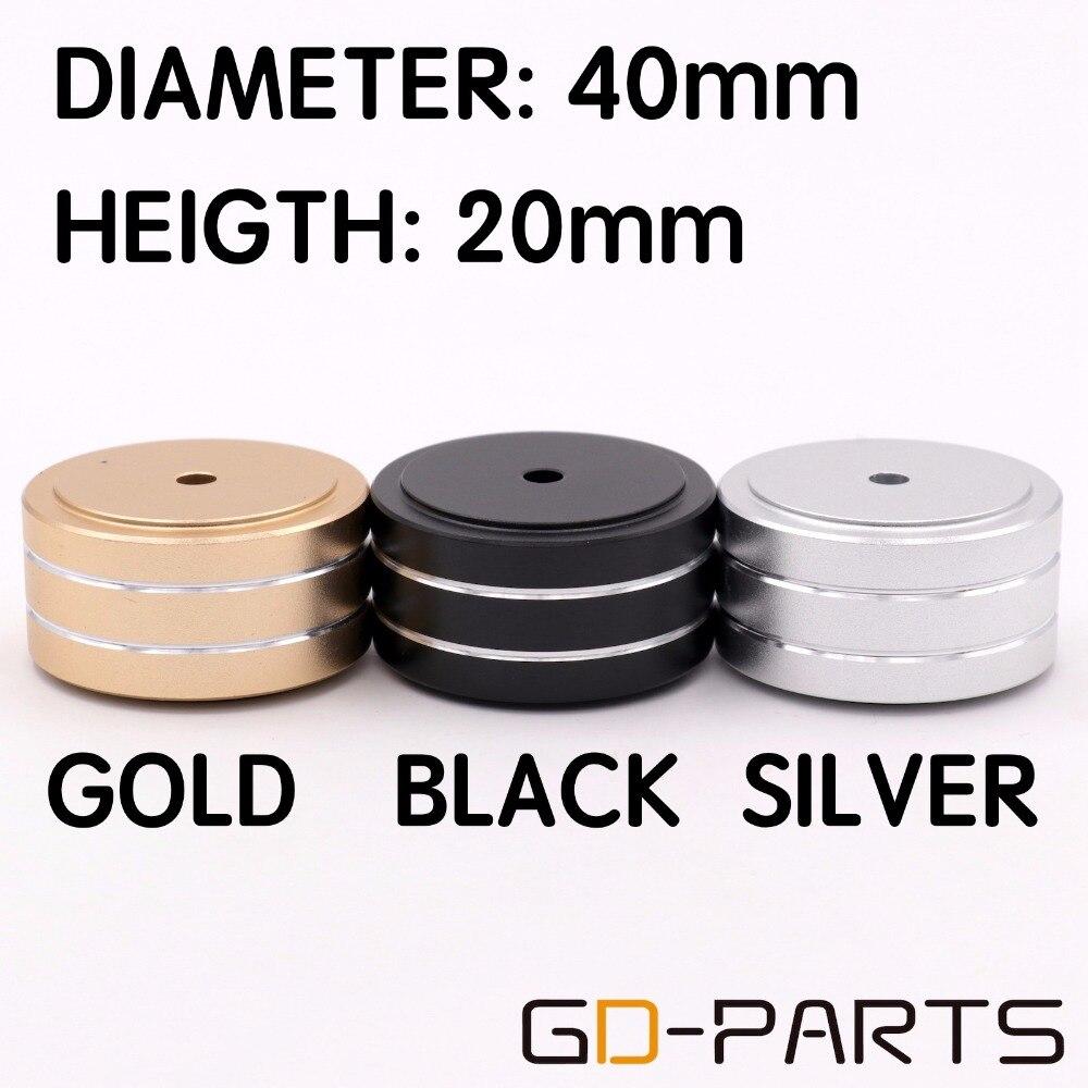 Алюминиевый усилитель, 4 шт., 40*20 мм, с корпусом для ПК, динамика, изоляционная подставка для шкафа, основа, AMP, DAC, поворотная площадка, конус