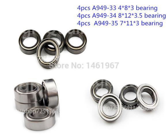 Wltoys A949 A959 A969 A979 1/18 RC Car Spare Parts Upgrade bearing 12pcs/lot