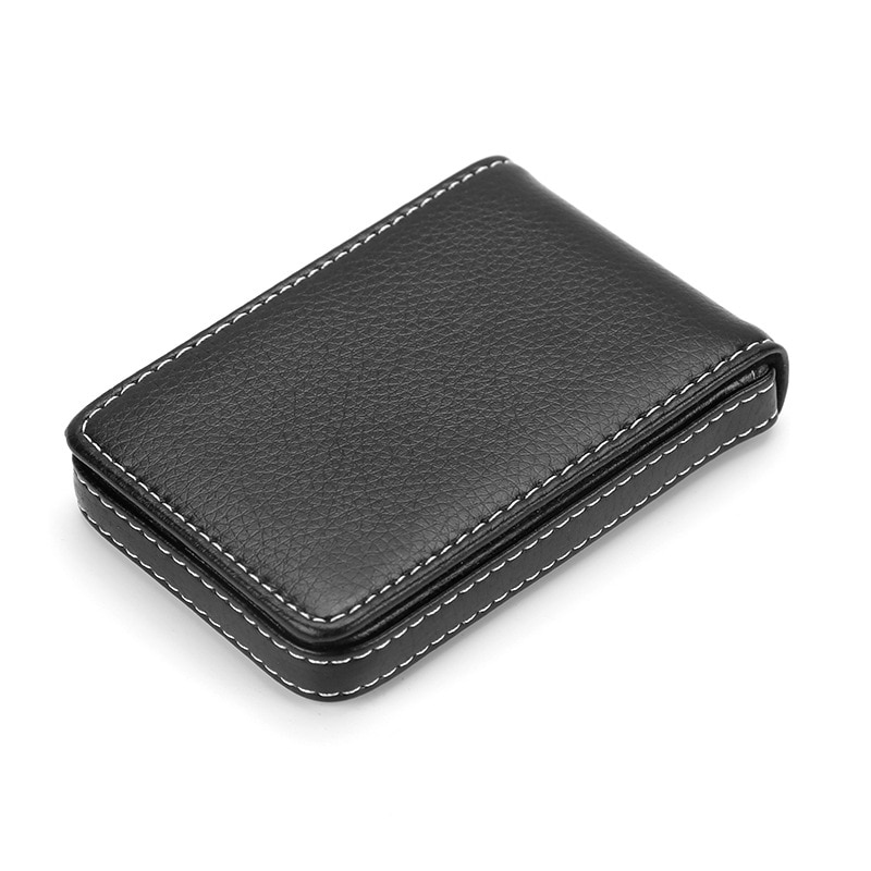 AliExpress - Wholesale New Pu Leather Card Holder Men's Business Card Holder Portable ID Card Case For Women Metal Credit Card Holder