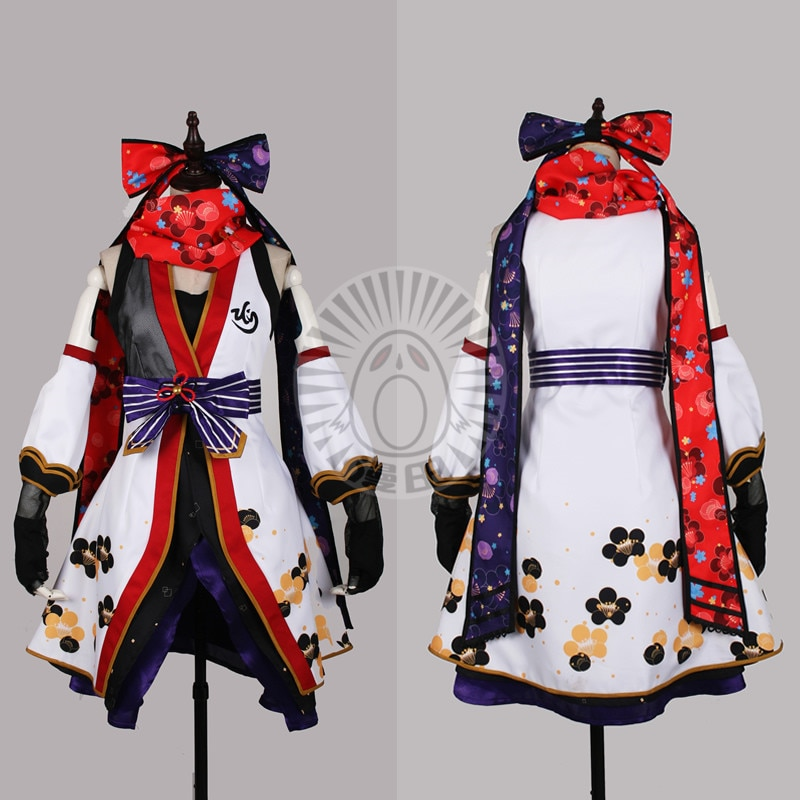 Rin Hoshizora Love Live Ninjia Awakening Cosplay disfraz rojo vestido calcetines A