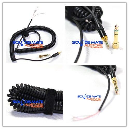 Enrolado DJ Linha Fio Cord Cabo Para Sony MDR MDR V 900 7509 600 MDR7509 V900 V600 HD Monitor de Fone De Ouvido 1 m-3 m