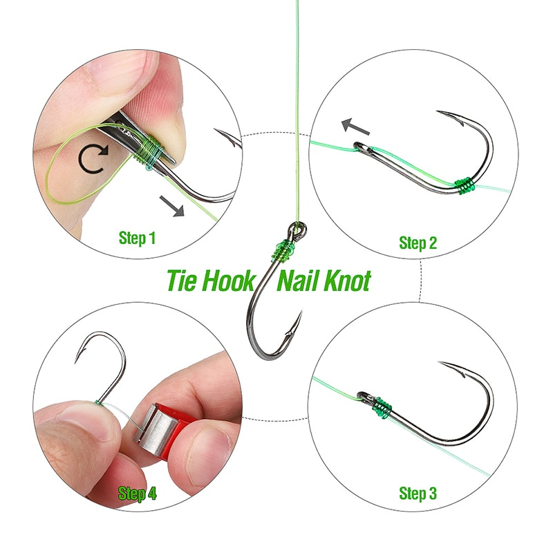 DONQL Fast Tie Fishing Quick Knot Tool Nail Knotter Tying Line Cutter Clipper Nipper Zinger Retractor Tackle Accessories