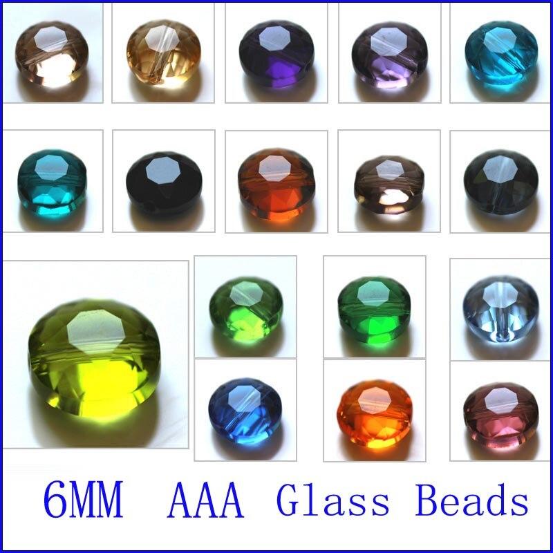 AAA 6 мм новейшие модные хрустальные бусины для самостоятельного изготовления ювелирных изделий в форме пуговиц, стеклянные бусины для резки...