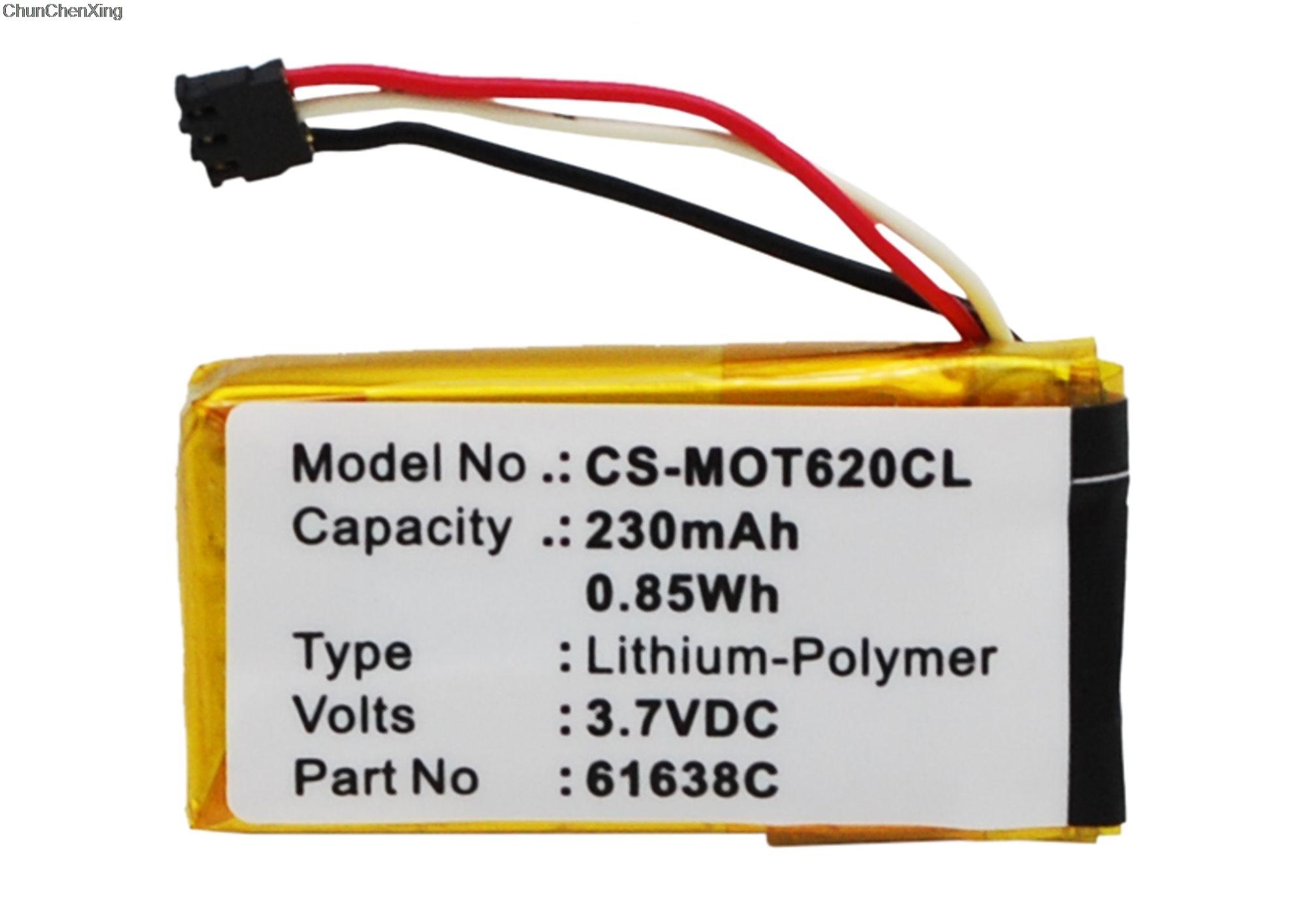 Cameron Sino 230mAh Batterie SNN5904A für Motorola Motoactv