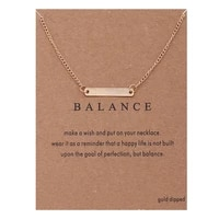 fashion horizontal bar pendant necklace gold color clavicle chains message statement necklace women jewelry gift