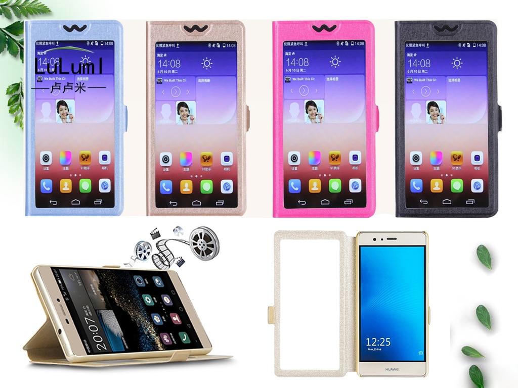 Funda abatible de piel sintética con ventana de vista para vertex impress stone Zeon 4G Luck NFC Aqua Vira Sunset NFC Astra Aero flash