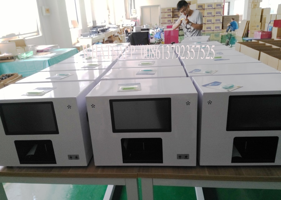 top selling wireless transfer images nail printing machine digital nail and flower printer with computer and touch screen