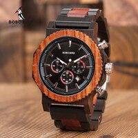 Big Size Wood Watch BOBO BIRD Men Fashion Luxury Wristwatch Timepiece Chronograph Date Display relogio masculino In Box L-R15