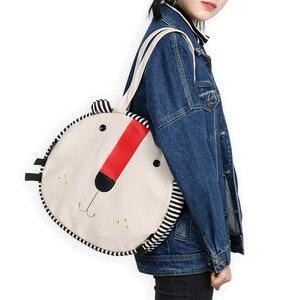 Original girl lovely large capacity of bag canvas bag students single shoulder bag Women Hip-Hop Casual Tote