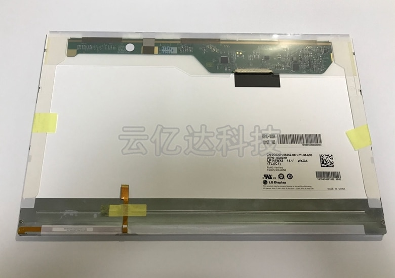 Laptop LCD Screen B141EW05 V3 LP141WX5 TLN1 LTN141AT12 with buckle For DELL E5400 E5500 E6400 notboo