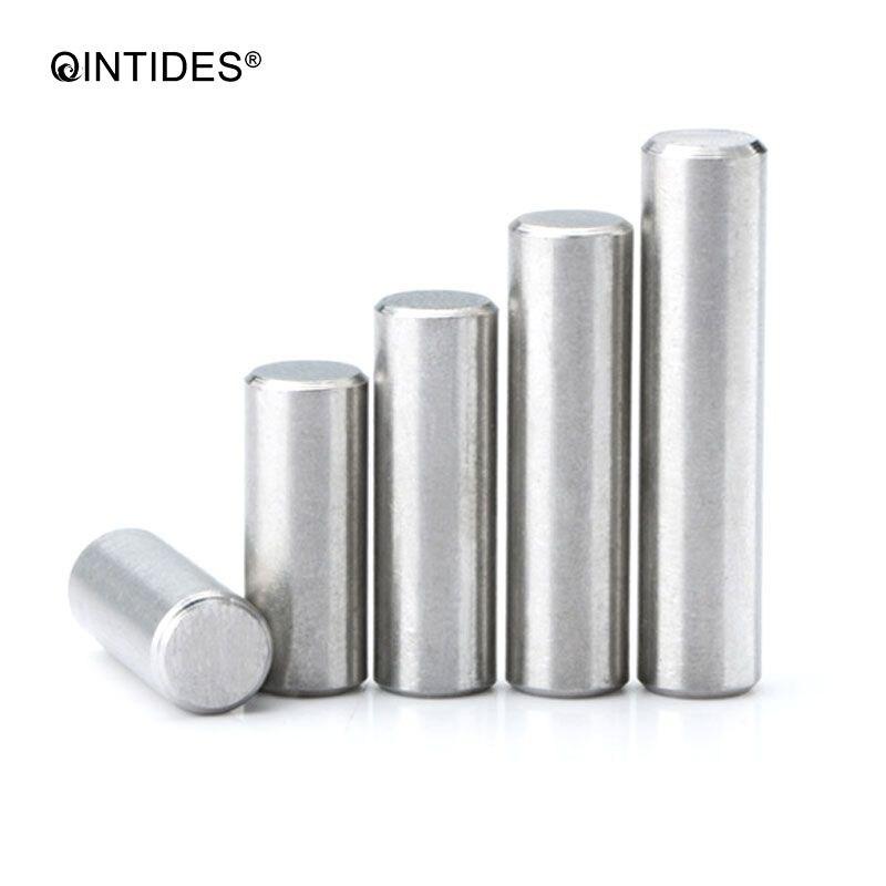 QINTIDES M6 M8 M10 * 75/80/85/90/100/110/120 pins paralelos de acero inoxidable de alta precisión Pasador cilíndrico posicionamiento pines GB119