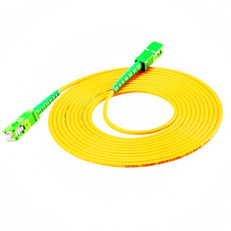 10 pçs/saco sc apc 3 m modo simples cabo de remendo de fibra óptica sc apc 3.0mm ftth fibra óptica jumper cabo frete grátis