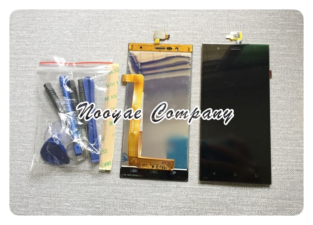 Sensor Boost3 negro de 5 pulgadas para Highscreen Boost 3/Boost 3 pro pantalla LCD + MONTAJE DE PANTALLA Digitalizador de pantalla táctil