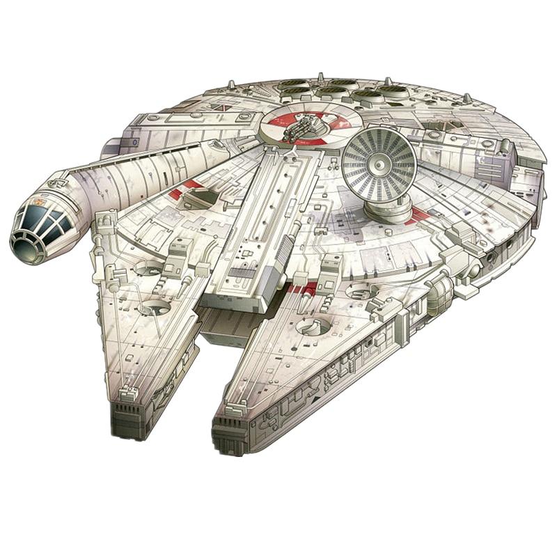 Star Wars Ship Fun 3d Paper Diy Miniature Model Kits Puzzle Toys Children Educational Boy Splicing Science