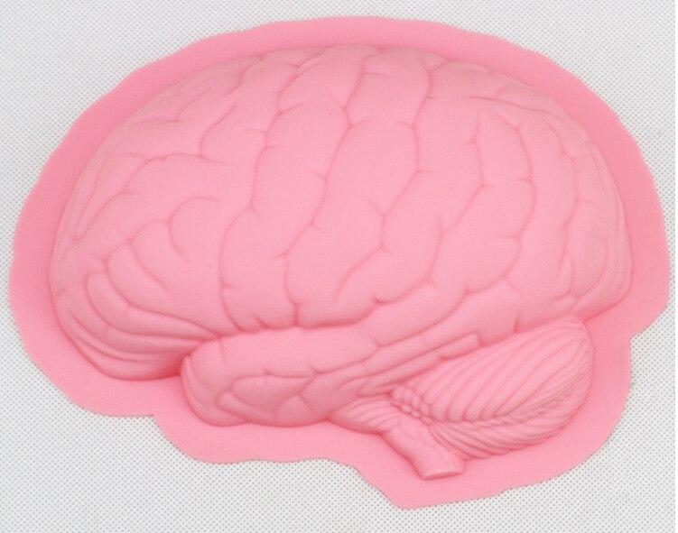 Modelo tinb188 criativo diy cérebro silicone bolo molde, dia das bruxas molde, silicone bolo pan alta qualidade silicone bakeware ferramenta