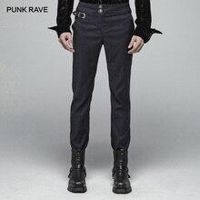 PUNK RAVE hommes Gentleman Punk Simple foncé Jacquard tissé pantalon gothique fête bal Club Performance réglable hommes pantalon
