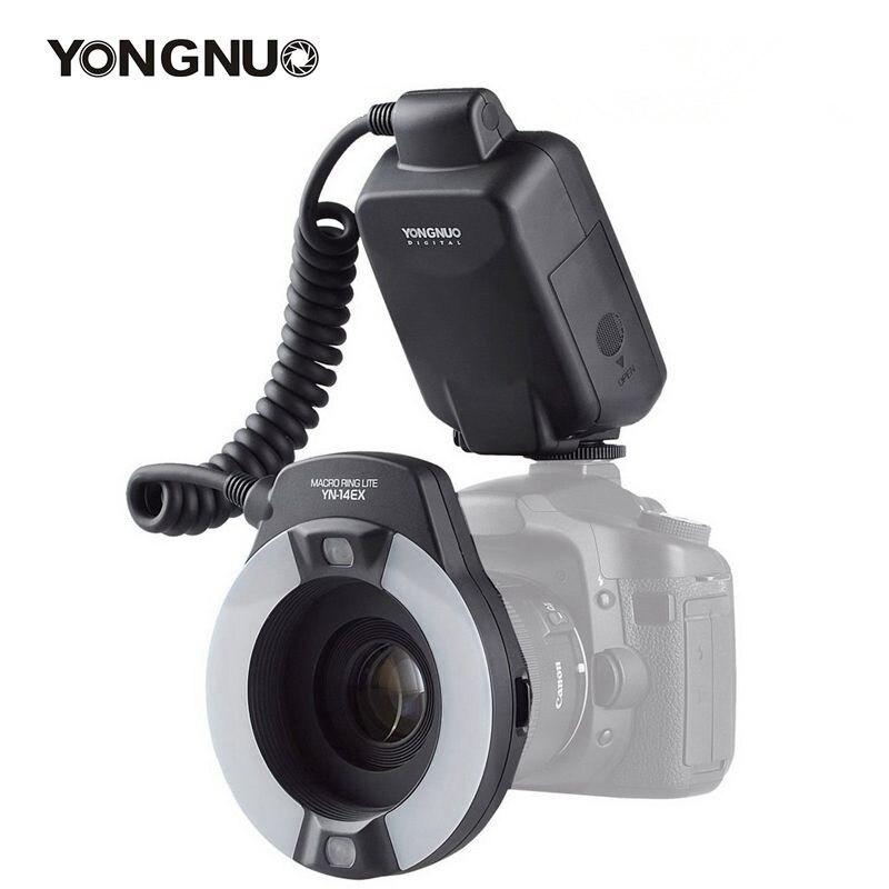 Yongnuo YN-14EX YN14ex Speedlite TTL Macro Anel Lite Flash Light para Canon 5Ds 5Dsr 760D 5D Mark III 7D 60D 70D 700D 650D 600D