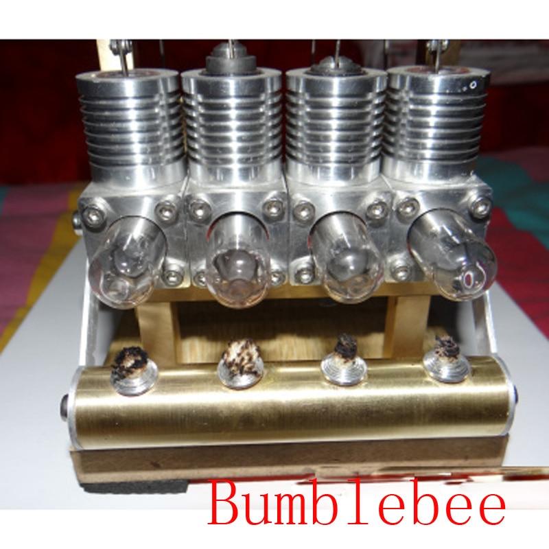 ¡Genial! Motor miniatura Stirling Bumblebee Stirling motor generador modelo hobby juguetes educativos Kits