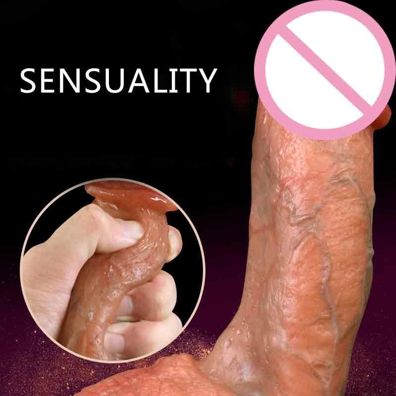 Lifelike Soft Silicone Realistic Dildo Suction Cup Dildo Male Artificial Penis Female Masturbator Adult Sex Toys For Women Dick.