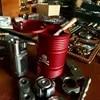 Cendrier en alliage d'aluminium pour hommes 1 pièce créatif crâne tambour d'huile réservoir de stockage de cigares voiture cadeau Cool équipement d'outils d'extérieur EDC