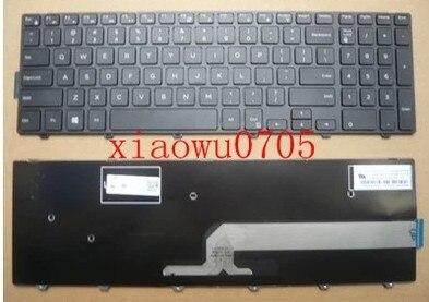 Nueva teclado del ordenador portátil para DELL Inspiron 3000 15 15 17-5000, 5547 de 3542 inglés negro
