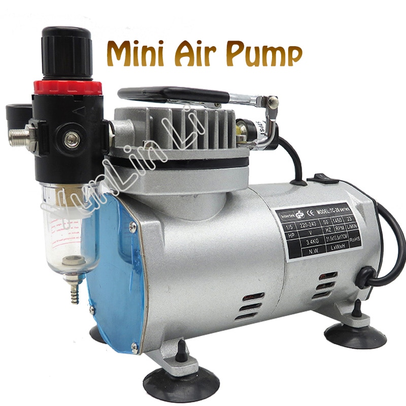 220V 23-25 L/min 1/5Hp pequeño pistón eléctrico bomba de vacío aerógrafo compresor MS18-2