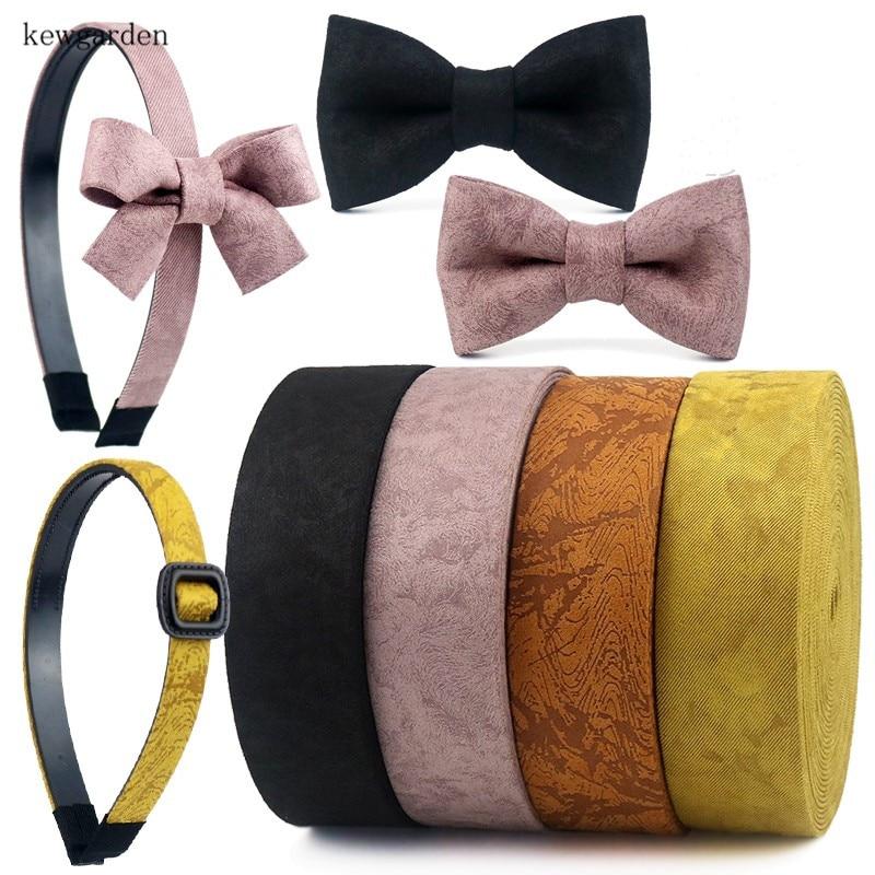 Kewсад 50 мм 25 мм 16 мм замша, наслойка тканевые ленты вручную изготовленная лента DIY галстук-бабочка Атлас Ленточные аксессуары для одежды 4 м/лот