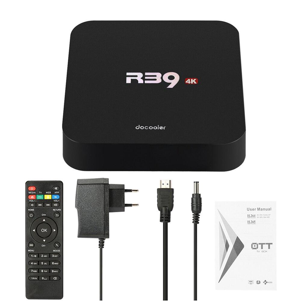 Docooler R39 Smart Android 7.1.2 TV Box RK3229 Quad Core 4K UHD 1G / 8G Mini PC WiFi H.265 HD reproductor de medios PK X96 X96mini