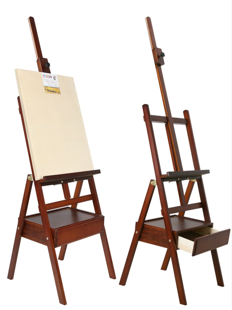 Solid Wood Easel Caballete De Pintura Artist Oil Paint Stand Atril Madera Watercolor Painting Stand Art Supplies for Artist
