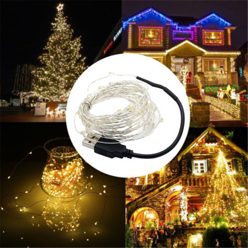 USB LED String Light 10M 5M Waterproof Copper Wire Outdoor Lighting Strings Fairy Lights For Christmas Wedding Decoration zdm 10m usb copper wire waterproof led string light 100 leds for festival christmas party decoration dc5v