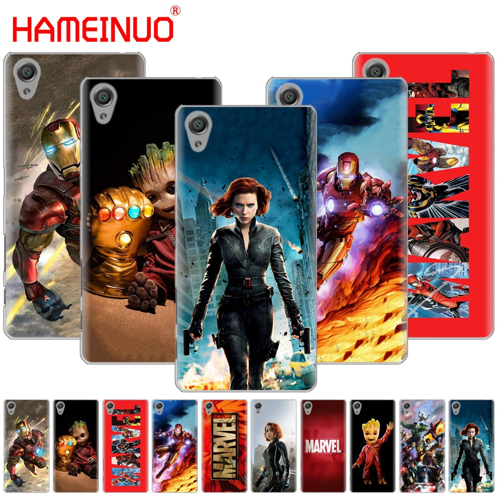 Marvel superheroes HAMEINUO Case Capa do telefone para sony xperia C6 XA1 XA2 XA ULTRA X XP L1 L2 X XZ1 compacto XR/XZ PREMIUM