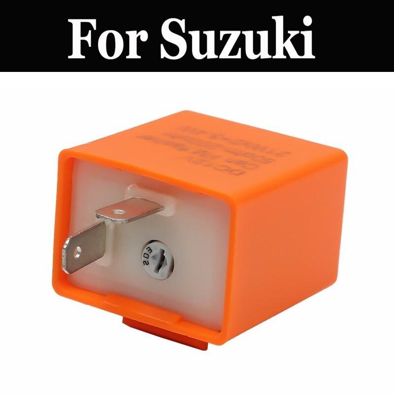 Relé intermitente ajustable Led electrónico de 12 v para luz de señal de giro para Suzuki Sp 125 200 250 500 375 Stratosphere sv1000s Sz