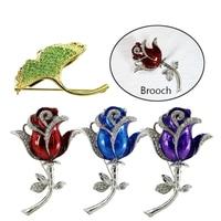 Ladies Brooch 16GB Usb Flash Drive Crystal Flowers Memory Storage Gifts Diamond Rose Leaf Brooch Usb Flash Drive 8GB Pen Drive