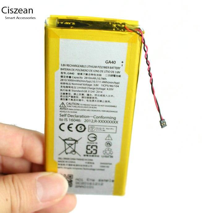 Bateria li-polímero da substituição de 3000 mah/11.4wh ga40 para motorola moto g4 plus xt1625 xt1622 xt1644 xt1643 ga40 ga 40 battereis