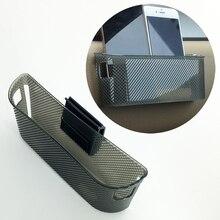 Universal Car Parts Storage Plastic String Bag Bin Cup Phone Mobile Gadget Holder Pocket Hook Auto I