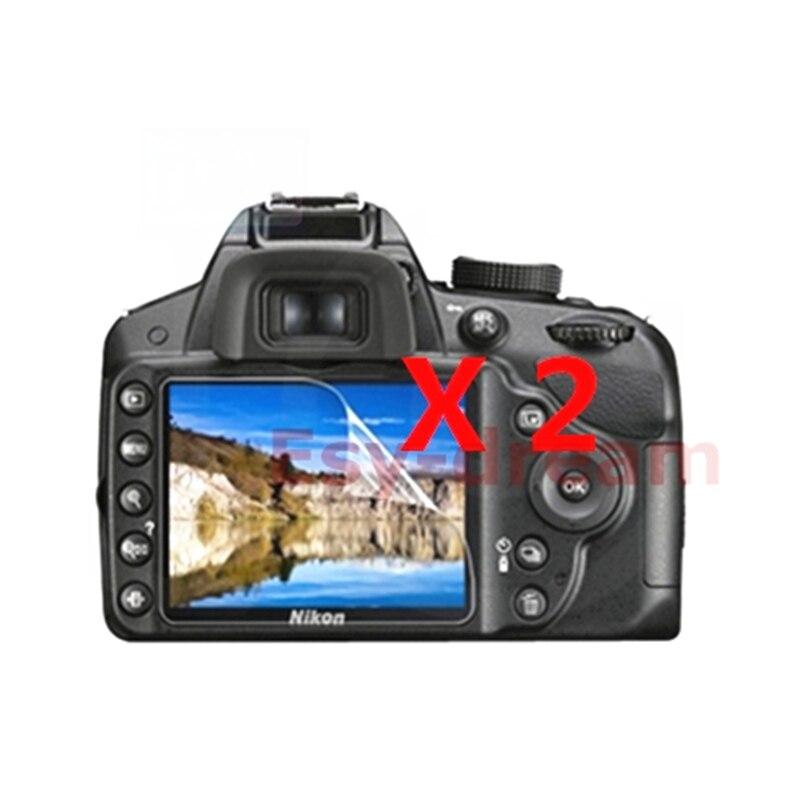 2 шт. Высокое качество ЖК-дисплей Защитная пленка для Nikon D3100 D3200 D3300 D3400 D3500 DSLR Camear мягкая