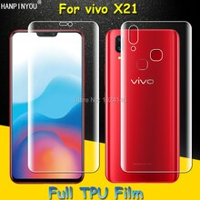 Front / Back Full Coverage Clear Soft TPU Film Front Screen Protector For vivo X21 6.28
