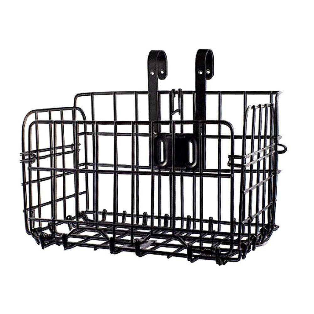 Bicicleta de Montaña de alambre Metal plegable cesta de la bicicleta grueso Marco de hierro frente bolsa colgante trasero cesta para bicicleta