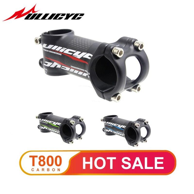 Ullicyc 6/17 graus de carbono bicicleta haste montanha/estrada bicicleta haste garfo braçadeira diâmetro 28.6mm guiador diâmetro 31.8mm * 60-120mm
