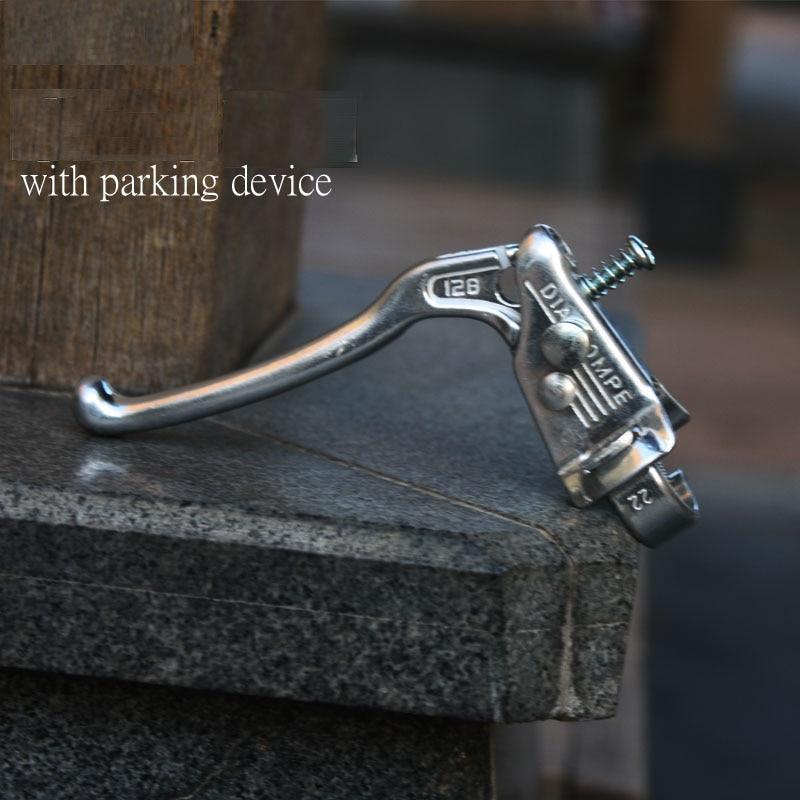 Dia-compe, aleación de aluminio, freno en V, palanca de frenos de disco con dispositivo de estacionamiento, vice para bicicleta de carretera, mango de freno de alta calidad