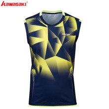 KAWASAKI été Fitness T-Shirt sans manches séchage rapide confort hommes Tennis t-shirts course Badminton chemise vêtements de sport ST-S1109