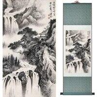 Peinture de paysage dart traditionnel chinois  peinture a lencre de chine  peinture a la mode  decoration de maison  offre speciale