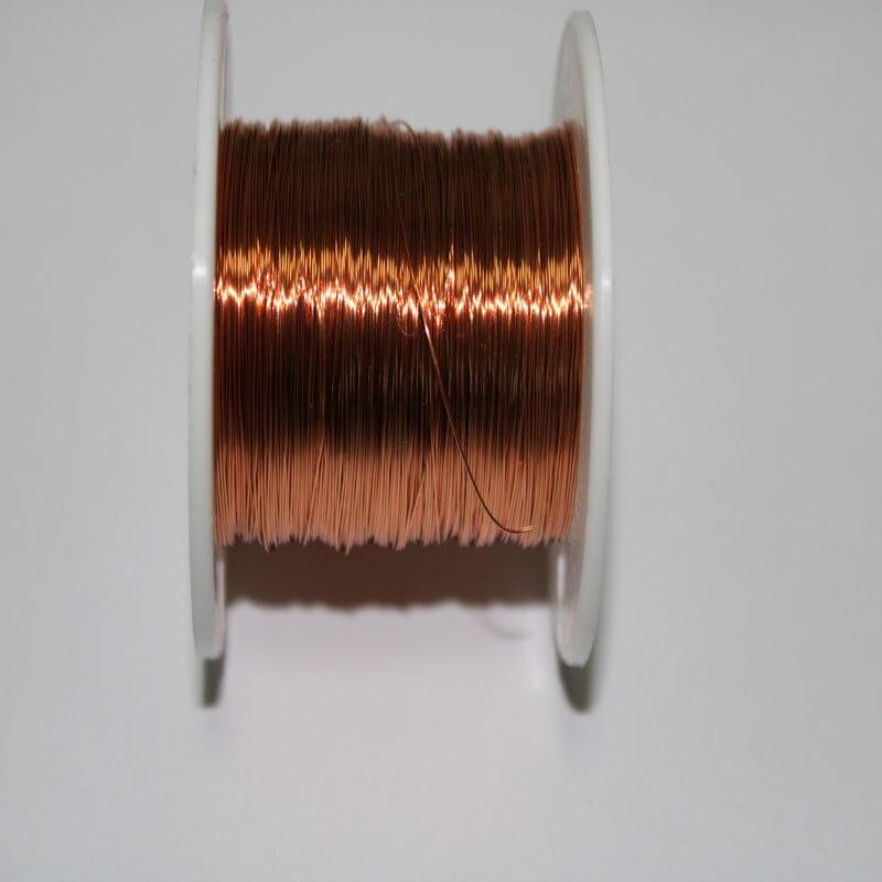 Fio de cobre esmaltado do poliuretano do fio 1000/0.1 do ímã de QA-1 m 155mm para o enrolamento magnético da bobina
