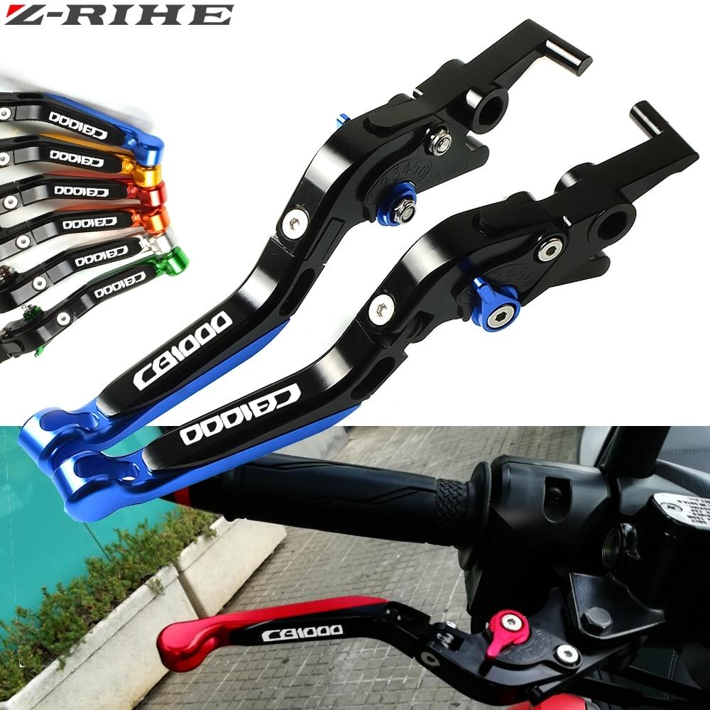 Para Honda CB1000R CB 1000R CB1000 R 2008-2017 2013 2014 2015 azul negro accesorios de motocicleta CNC palanca de embrague de freno ajustable