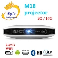 ByJoTeCH     projecteur M18 3D 1080P  2 go 16 go  Android  WIFI  4K  pour Home cinema  AirPlay  Miracast  batterie integree