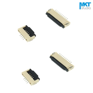 100Pcs Clamshell Type 6P/7P 1.0mm Pitch 2.0mm Height FPC FFC Connector