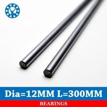 2 stks Lineaire As 12mm Diamter 12mm Lengte 300mm Verchroomd WCS Ronde Stalen Rod Bar Cilinder lineaire Rail Voor CNC
