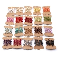 5m15meters fishing line artificial pearls beads chain garland flowers wedding party decoration brides headgear lots color