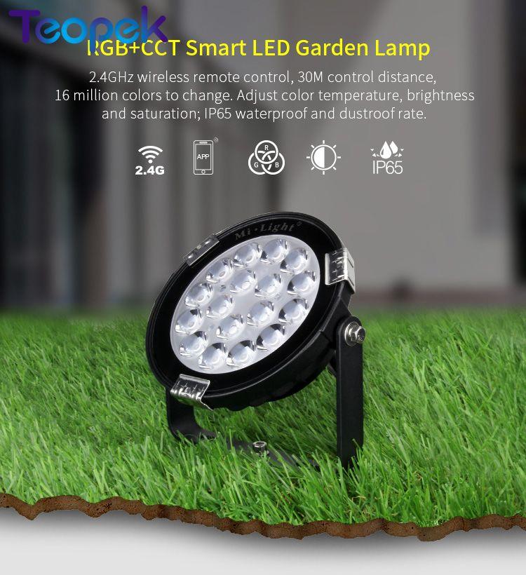 Mi. Luz 9W RGB + CCT LED Luz de jardín IP65 impermeable iluminación exterior DC24V FUTC01 AC85-265V FUTC02